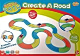 Flipo Bend A Path Glow-in-The-Dark 13ft Track Set - Includes 2 Light Up SUV's Toy Cars & 260 Multi-Colored Track Pieces - 3 Years +