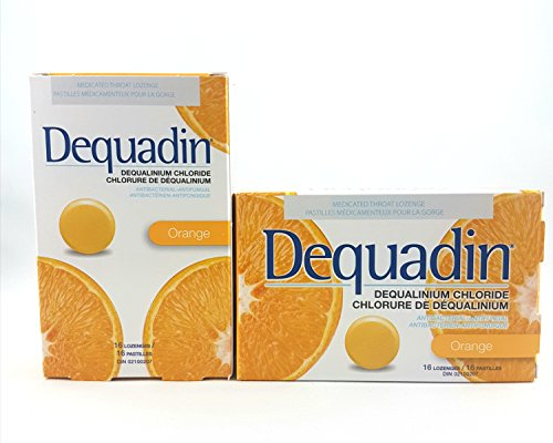 DEQUADIN LOZENGES 16 ORANGE X 2 PACK