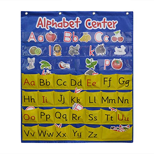 Alphabet Center Pocket Chart, ABCs, Letter, Word Recognition Pocket Chart, Alphabet Pocket Chart,Word Pocket Chart