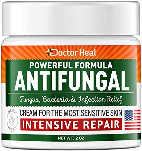 Antifungal Cream - Athletes Foot Cream - Made in USA - Fungus, Jock Itch, Body Acne & Athletes Foot Treatment - Fungus Cream with Tea Tree Oil for Groin Rash - Cracked Skin Ultra Care for Women & Men