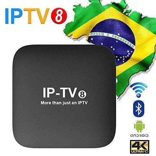 2019 IPTV 8ª GERAÇÃO 250+ canais de TV, muitos deles em recursos HD, Bluetooth, Android 7.1.2 e muitos canais de entretenimento, Infantil, esportes, filmes e séries (GREE)