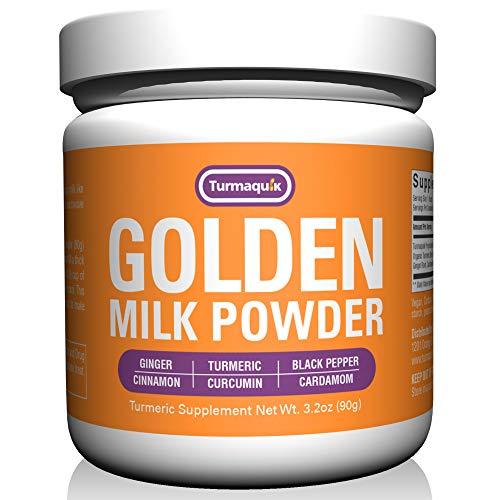 Golden Milk Powder (90 Servings) Turmeric 6 Superfood Blend - Non GMO Vegan Keto
