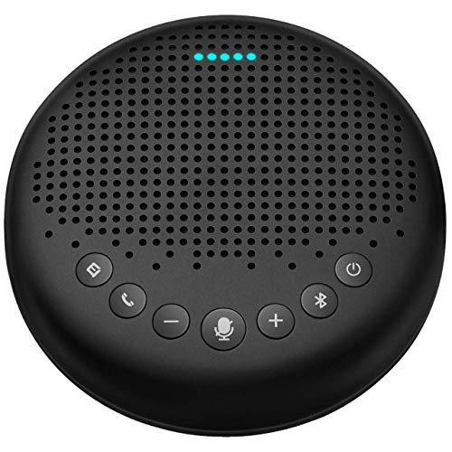 Bluetooth Speakerphone – eMeet Luna Conference Speaker, Enhanced Noise Reduction Algorithm, Daisy Chain, Dongle USB Speakerphone for Home Office, 360°Voice Pickup for 8 People