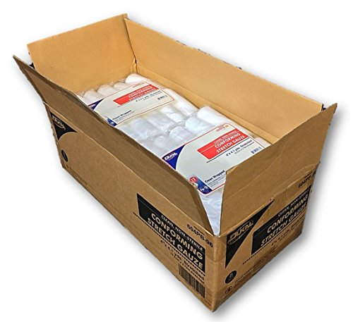 Case of Conforming Stretch Gauze, 96 Clean Wrapped Rolls, 4'x4.1yds By Dukal