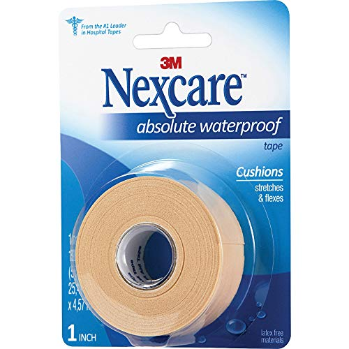 Nexcare Absolute Waterproof First Aid Tape, Tears Easily, For Water Related Activities, 1 Roll