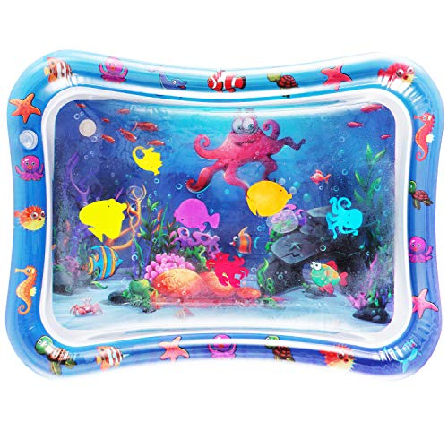 NASHRIO Tummy Time Baby Water Play Mat Toys for 3 6 9 Months, The Perfect Fun Toy for Infant Early Development Activity Centers