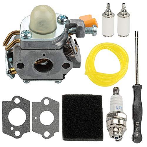 308054003 C1U-H60 Carburetor fits Homelite Ryobi CS30 SS30 BC30 PC30 TP30 985624001 985308001 3074504 25cc 30cc String Trimmer Brushcutter with Air Filter Tune Up Kit