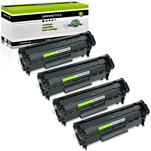 GREENCYCLE Compatible Toner Cartridge Replacement for Canon 104 FX9 FX10 FX-10 FX-9 104 ImageClass MF4100 MF4150 MF4270 MF4350d MF4370dn MF4380dn D420 D480 (Black,4 Pack)