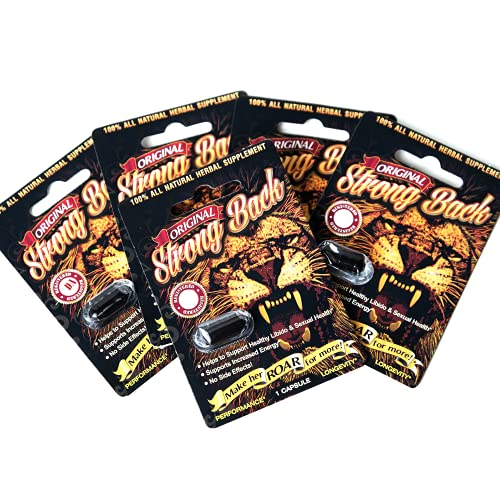 Strong Back Original Strongback 6 Capsules/Pill Blister Pack - All Natural Male Enhnacement Supplements Pills