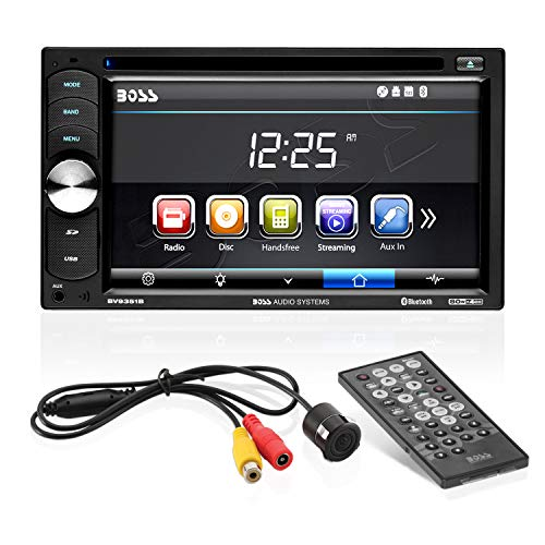 Boss Audio Systems BVB9351RC Car DVD Player with Backup Rearview Camera - Double Din, Bluetooth Audio Calling, 6.2 Inch LCD Touchscreen Monitor, MP3 CD DVD USB SD, Aux-in, AM FM Radio Receiver