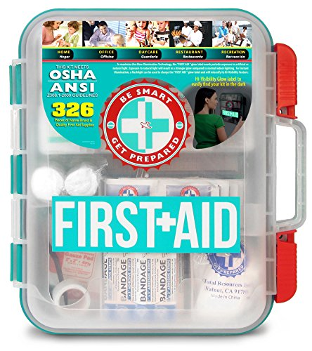 Be Smart Get Prepared First Aid Kit, Red, 327 Piece Set 1 Count
