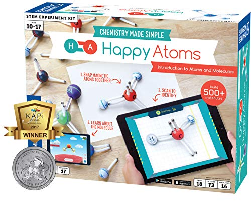 Happy Atoms Magnetic Molecular Modeling Introductory Set   Intro To Atoms, Molecules, Bonding, Chemistry   Create 508 Molecules   73 Activities   Plus Free Educational App For Ios, Android, Kindle