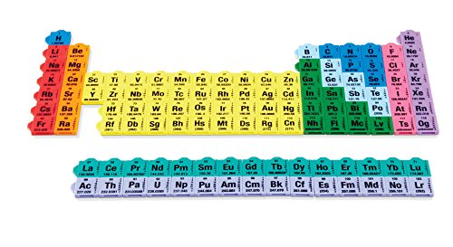 hand2mind Connecting Color Tiles Periodic Table, Learn About Elements & Chemistry, (Grade 7+), Color-Coded Tiles are Printed with the Atomic Number, Symbol, Weight & Electron Configuration (165 Tiles)