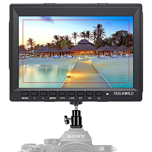 """Feelworld FW759 Camera Monitor 7"""" HD 1280x800 Field Video LCD IPS Screen 1200:1 High Contrast Ratio for Steady Cam, DSLR Rig, Camcorder Kit, Handheld Stabilizer"""