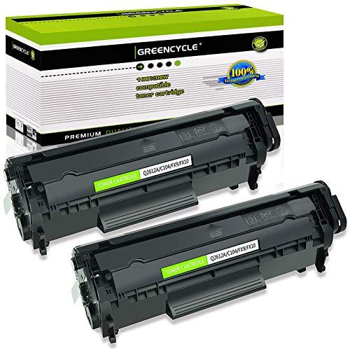 GREENCYCLE 2 Pack C104 CRG 104 CRG104 FX9 FX10 Black Toner Cartridge Replacement Compatible for Canon FAXPHONE L90 L120 imageCLASS D420 D480 Printer