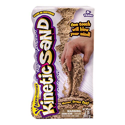 The One and Only Kinetic Sand, 2lb Brown for ages 3 and up.