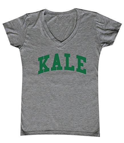 P&B Kale G. Women's V-Neck, XL, H. Grey