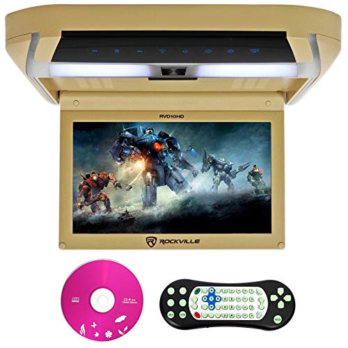 Rockville RVD10HD-BG 10.1' Flip Down Monitor DVD Player, HDMI, USB, Games, LED