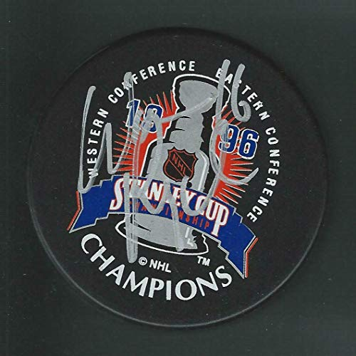 Warren Rychel Signed Colorado Avalanche 1996 Stanley Cup Champions Logo Puck - Autographed NHL Pucks