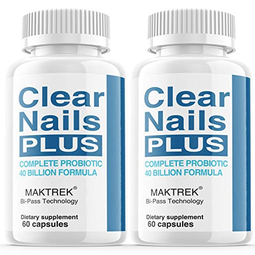 (2 Pack) Clear Nails Plus Antifungal Probiotic Pills, Fungus Treatment, Clear Nails Plus Extra Strength Complete Capsules Formula Boost Metabolism Supplement (120 Capsules)