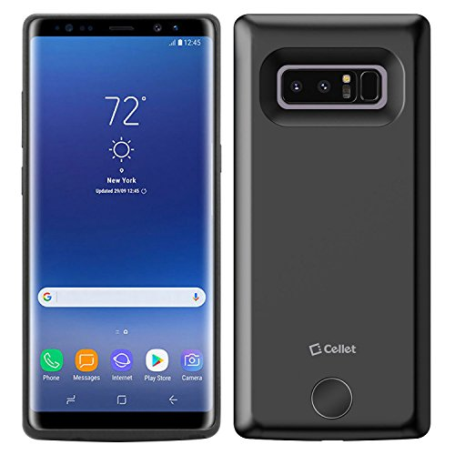 Cellet External Battery Case with 6500mAh Battery Compatible for Samsung Galaxy Note 8