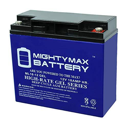 Mighty Max Battery 12V 18AH Gel Battery for Schumacher PSJ-3612 Jump Starter Brand Product