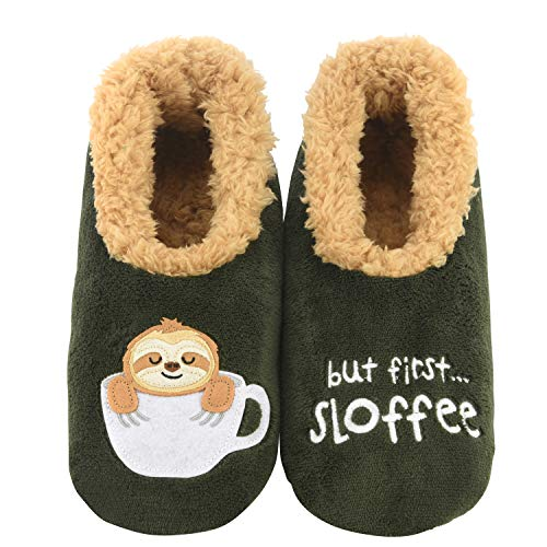 Snoozies Pairables Womens Slippers - House Slippers - But First Sloffee - Small