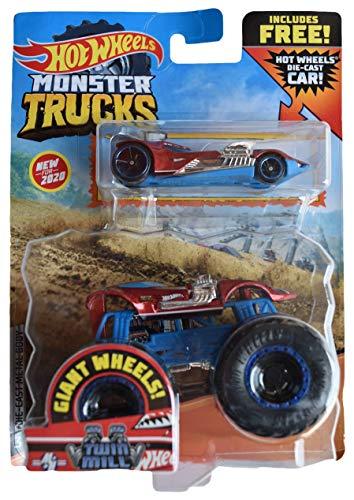 Hot Wheels Monster Trucks 1:64 Scale Twin Mill, Includes Hot Wheels Die Cast Car