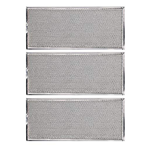 KONDUONE 3-Pack of W10208631A Filter for Whirlpool Microwave Oven Grease Filter Approx. 13' x 6' -Replaces W10208631RP AP5617368 PS3650910 Grease Filter Aluminum Mesh Microwave Range Hood Filter