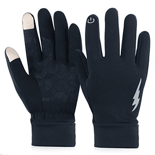 URBEST Winter Gloves, Touch Screen Driving Riding Gloves Cycling Gloves Thick Warm Gloves for Men Women(Thick, L)
