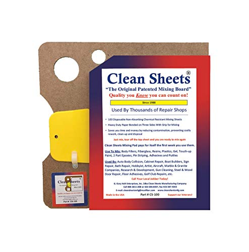 Clean Sheets Superior Mixing Pad (12x12) - 100 Disposable Sheets FOR Toughest Job, Clear