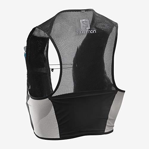 Salomon S/Lab Sense 2 Set Unisex Trail Running Vest Backpack, Black, Medium