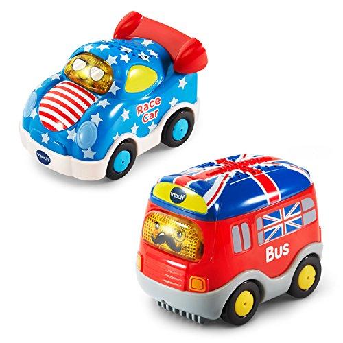 VTech Go! Go! Smart Wheels National Flag Vehicles 2-Pack (Amazon Exclusive)
