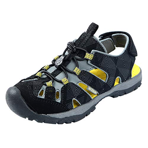Northside Kids Burke Se Sport Sandal, Black Yellow,10 M US