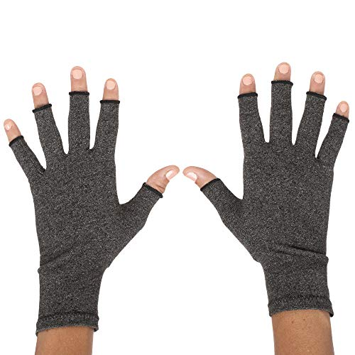 ZenToes Arthritis Compression Gloves - Pain Relief for Rheumatoid & Osteoarthritis Treatment - Gloves for Everyday Wear - 1 Pair (Medium)