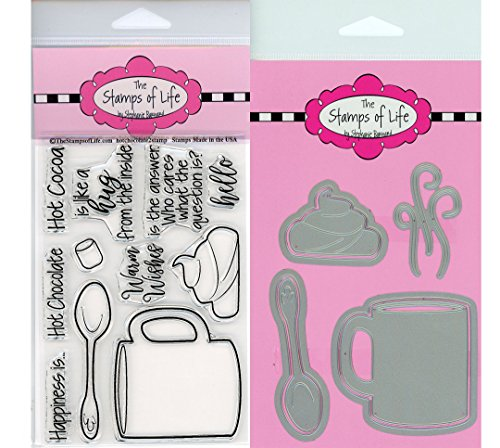 Hot Chocolate Christmas Stamps and Dies for Scrapbooking and Card-Making by The Stamps of Life - HotChocolate2Stamp and Dies
