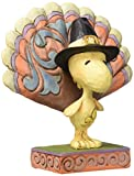 Peanuts by Jim Shore Woodstock as a Turkey Mini Stone Resin Figurine, 3.3""
