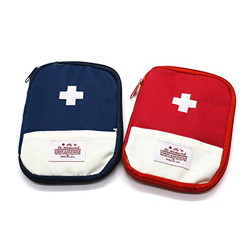 HUELE 2-Pack Empty First Aid Pouch Bag for Camping Travel-7.1x5.1 inch