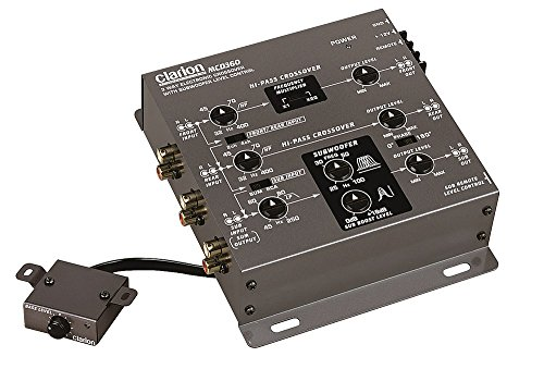 Clarion MCD360 2/3-Way 6-Channel Electronic Crossover w/ 5-Volt RCA Outputs + Subwoofer Equalizer
