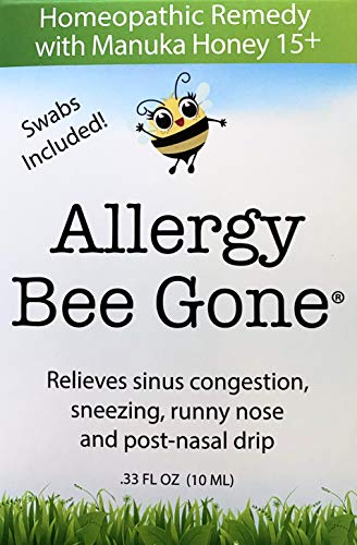 Allergy Bee Gone Natural Nasal Swab Remedy for Seasonal Allegies w/Manuka Honey - Allergy Symptom Relief