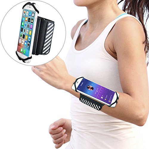 WANPOOL Walking Wristband/Forearm Band Phone Holder for iPhones and Other 4.5 – 6 Inch Phones