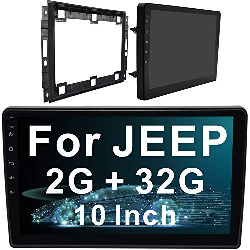 IYING 10 Inch Car Stereo for Jeep Wrangler/Compass/Commander 2G RAM 32G ROM Android 8.1 WiFi AM/FM Radio GPS Navigation Bluetooth Car Multimedia Head Unit