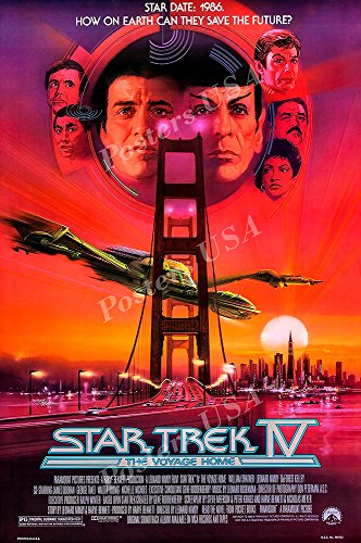 Posters USA - Star Trek The IV The Voyage Home Movie Poster GLOSSY FINISH) - STT007 (24' x 36' (61cm x 91.5cm))