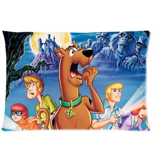 Scooby Doo 20X30 Two Sides Custom Cotton & Polyester Pillow Case Cover Cushion Cover Model: CHH-0206 (Build-to-Order)