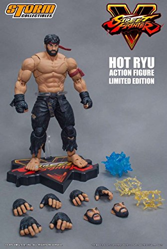 Storm Collectibles Street Fighter V Hot Ryu Black Pants Figure - NYCC 2017 Exc.