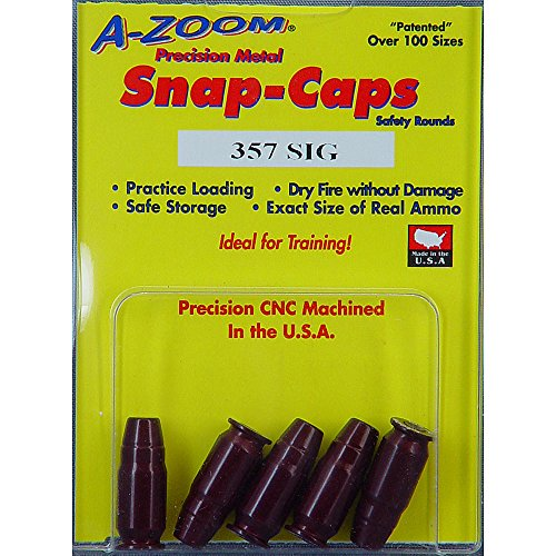 Pachmayr 357 Sig Azoom Snap Caps 5 Rounds - 15159