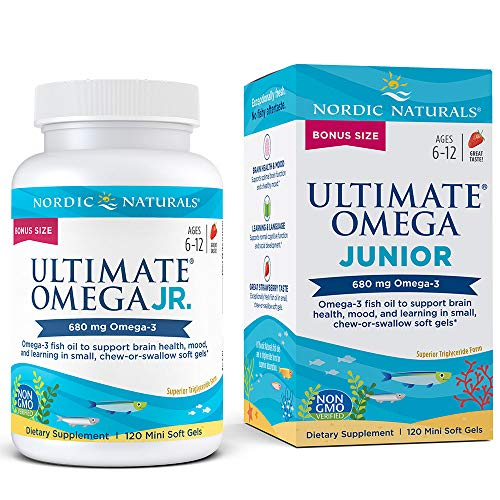 Nordic Naturals Ultimate Omega Junior - Support for a Healthy Heart, Brain and Mood in Developing Children*, Strawberry, 120 Count