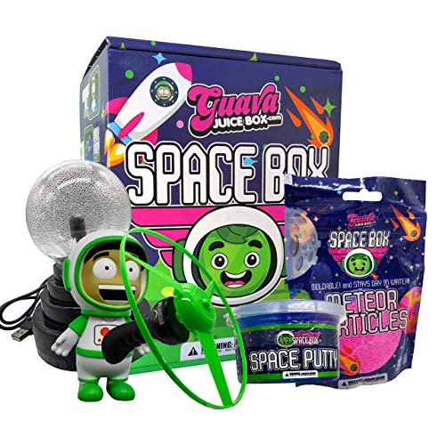 Studio71 Guava Juice Space Box - Fun & Innovative Science Experiment Toy with a UFO Launcher, Meteor Particles, Collectible Roi Figure, and Plasma Ball