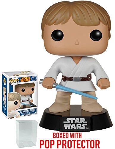 Star Wars: Classic Luke Skywalker Tatooine Funko Pop! Vinyl Bobble-Head Figure (Includes Compatible Pop Box Protector Case)