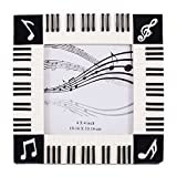 Broadway Gift Piano Keyboard Musical Notes Treble Clef Decorative 4x4 Picture Frame